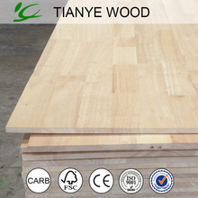 Malaysia rubber wood finger joint laminated board/Melamine rubber wood