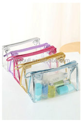 Bulk Cheap Transparent Makeup Bag Portable Organizer Case Fashionable Ladies Travel Cosmetic Bags
