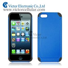 matte PC silicon combo case for iPhone 5S 5G mobile phone protector case