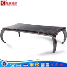 Marble Top Chromed Plated Steel Coffee Table For Living Room CJ-129