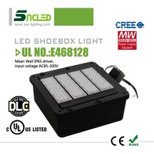 Pole mounted Outdoor UL / ETL / DLC led shoebox fixture 120v for basketball court lighting