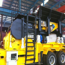 Shanghai Tarzan wheel type mobile jaw crusher station for sale