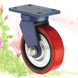 High Load Capacity Swivel PU Wheel 125mm Hardware Caster