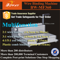 MF360 all in one function comb wire spriral coil stationery products list