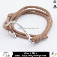 2015 fashion hook bracelet paracord for man