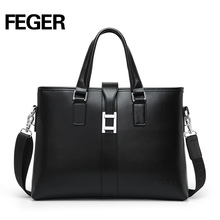 Good price latest design trend men cow leather business bag for sale