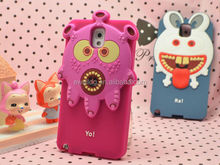 Alibaba Express Small MOQ 3D Animal Silicone Cheap Mobile Phone Case for iphone 4