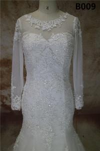 Alibaba western red ball robe de soirée de mariage pour les filles