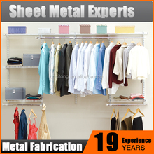 Modular DIY Closet Ventilated Bedroom Wardrobe System Easy Assembly Metal Wardrobe