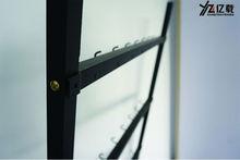 Complete range of articles belt display rack