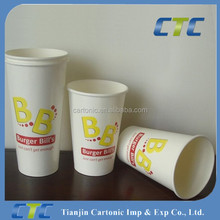 Disposable hot drink paper cup