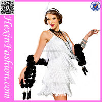 Ladies White Noble France Style China Halloween Costumes for Adult No MOQ