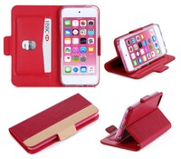 Genuine Leather Flip Mobile Phone Case For iPod Touch 6