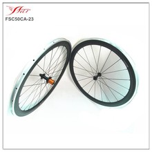 700C Carbon Alloy Bicycle Wheels 50mm x 20.5mm clincher road wheel set Aluminum braking surface Edhub 20H/24H