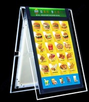 stand up A shape acrylic picture led frames