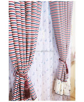 2016 NEW FRESH Stripe linen yarn dyed curtain for custom made curtain drapery