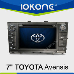 7 inch HD Touch screen 2 din GPS navigation system in dash Car Radio for Toyota Avensis