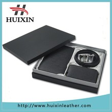 2015 wallet and belt business gift items , factory custom leather gift set