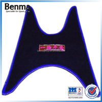 Female motorcycle electric bicycle/scooter foot pad , 3D footrest skidproof pedal cover