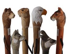 Export popular/hot selling woooden engraved walking sticks /canes