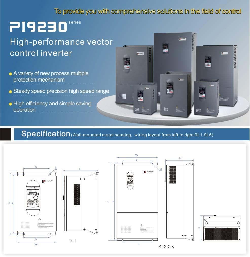Pi9230 Vector Control Inverter For 3phase Electric Motor (220v 5.5kw ...
