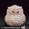 E514A4 Austrian drilling double-sided full diamond owl metal clutch evening bag hard case