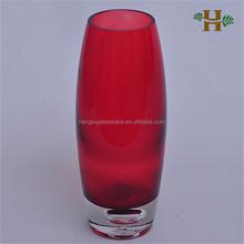 hochwertige handgefertigte blase basis rotes glas vase für dekoration