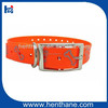 Reflective hunting dog collar with center ring