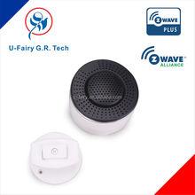 high sensitive convertional smoke alarm, gas sensor in z-wave frequency 868.42/908..42mhz