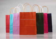 wholesale promotional boutique logo printed recyclable reusable foldable custom made cheap paper shopping bag