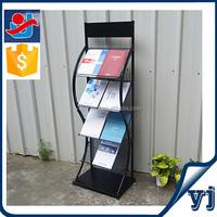 Metal wire display shelf/Newpaper display rack/ Promotion book stand