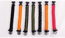 Lanyard Lifesaving Emergency Survival Bracelet/ 9-cell(core) Self-defense Weaponry Whistles