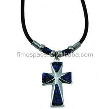 large cross pendants fimo clay jewelry