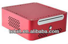 Full Metal Aluminum MINI-ITX Chassis A02B for HTPC,mini PC, 1*POWER_SW, Slim DVD ROM Space,Mini PC case