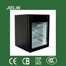40L hotel eléctrico Mini Bar Nevera con puerta corrediza transparente