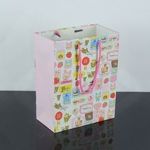 custom printed Cotton Rope Handle Paper Bags Custom Laminated Paper Shopping Bag