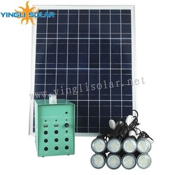 40W/18V with 8pcs 3w lamp solar lighting kit