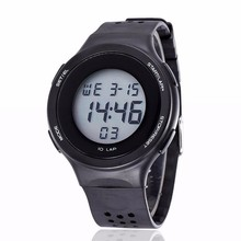 Yx9023 resistente al agua 30 m ronda de silicona Set reloj de pulsera Digital
