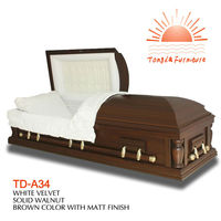 TD-A34 cheap Wooden Adult Casket or coffin for sale