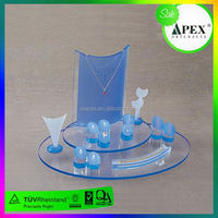 2015 Promotional YMC-D11 solar power rotating acrylic body piercing jewelry display stand