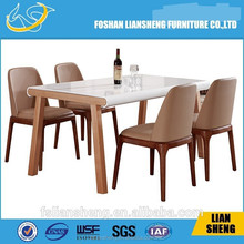 DT014 Ikea wooden dining set one table with four chairs pencil table with chair