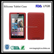 Soft Silicone Skin Case Cover for Asus Google Nexus 7 Tablet - Red