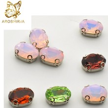 High Quality Oval Shape Fancy Stone Specialized Colorful Crystal Fancy Stone
