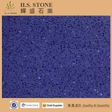 Sky Blue Sparkle Artificial Quartz Stone,Dark Blue Marble Tile,Dark Blue Quartz Countertops