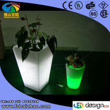 artificial plant with light vase