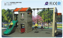 2015 new products plastic house with slide for kids