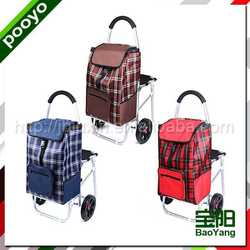 shopping trolley with seat wet floor stand