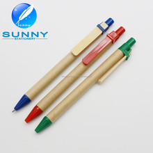 high quality cheap recycled paper pen, ball point pen