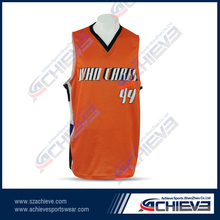 Sublimation custom men's shirt basketball uniform design