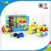 2CH cartoon car toy for kids radio control toys small plastic toy train